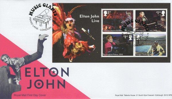 RM Elton John Minisheet FDC