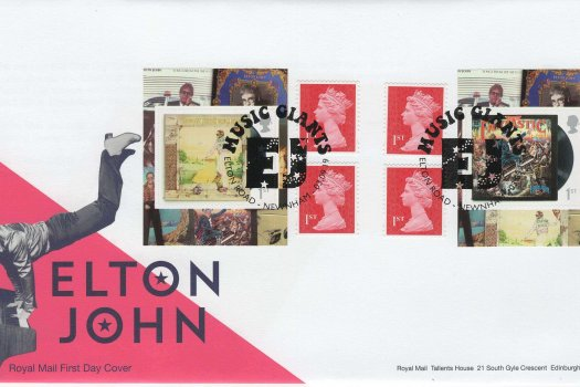 RM Elton John Retail Booklet FDC