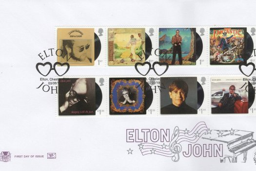 Stuart Elton John FDC Official Cover