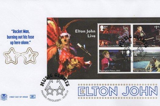Stuart Elton John Minisheet FDC