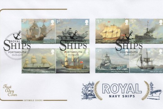 Cotswold Royal Navy Ships FDC