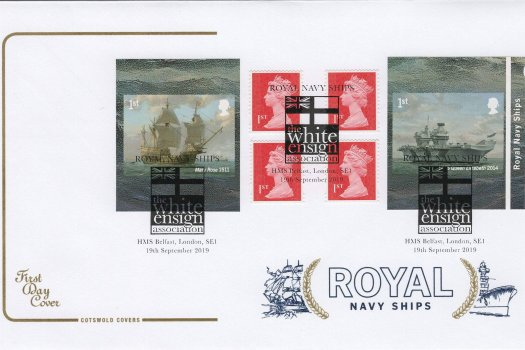 Cotswold Royal Navy Ships Retail Booklet FDC