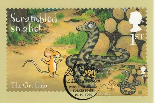 Gruffalo stamp cards Front