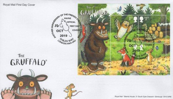 Royal Mail Gruffalo Minisheet FDC