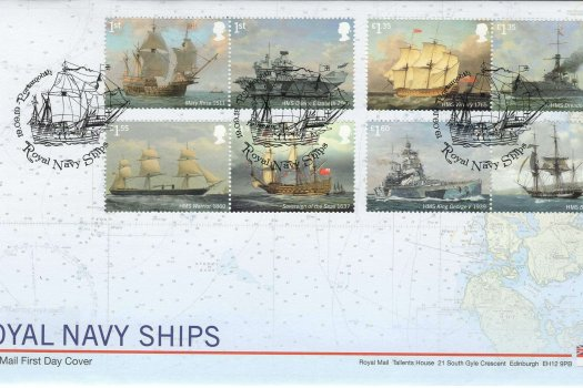 Royal Mail Royal Navy Ships FDC
