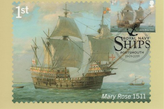 Royal Navy Ships Stamp Cards image 1
