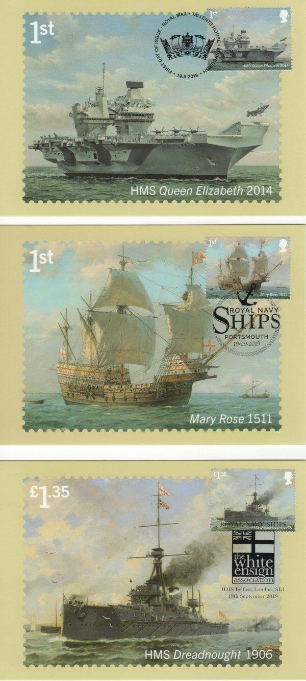 Royal Navy Ships Stamp Cards image 1