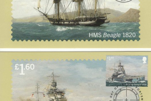 Royal Navy Ships Stamp Cards Back