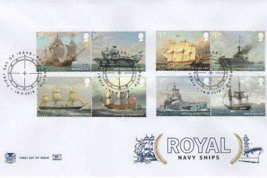 Stuart Royal Navy Ships FDC