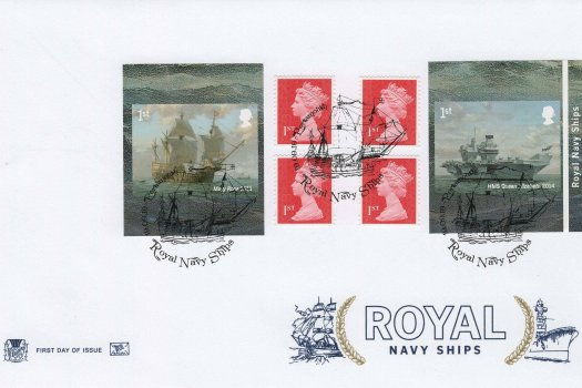 Stuart Royal Navy Ships Retail Booklet FDC