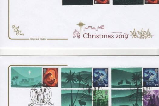 Cotswold Christmas 2019 Generic Sheet FDC image 1