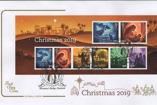 Cotswold Christmas 2019 Minisheet FDC