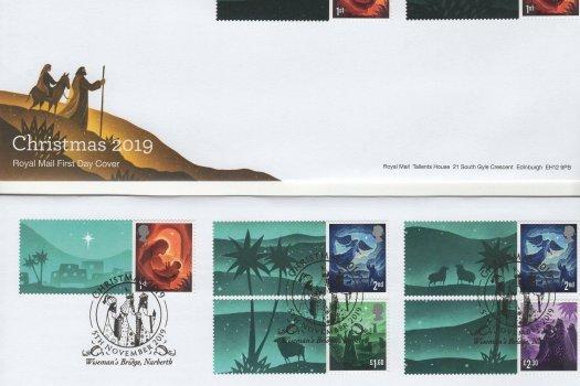 Royal Mail Christmas 2019 Generic Sheet FDC image 1