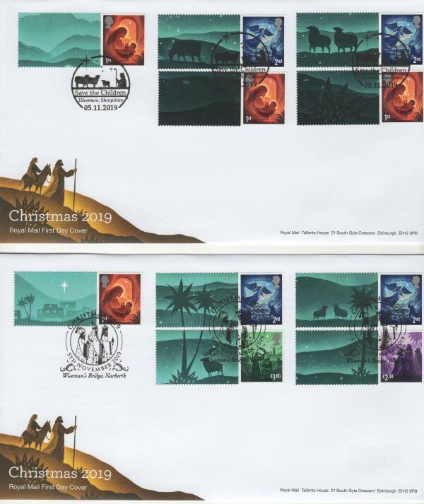 Royal Mail Christmas 2019 Generic Sheet FDC image 1