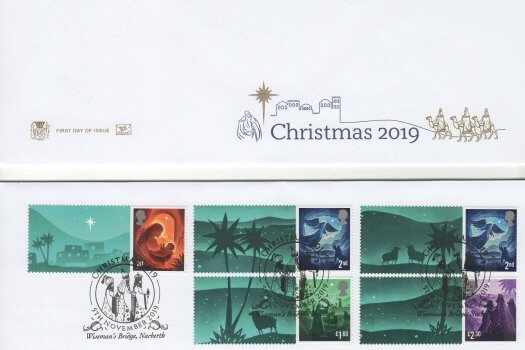 Stuart Christmas 2019 General Sheet FDC image 1