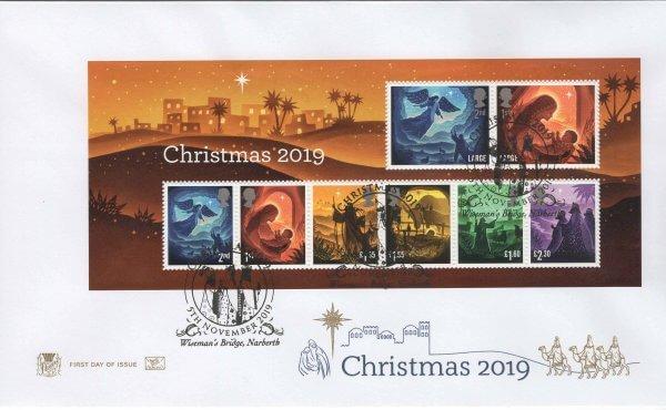 Stuart Christmas 2019 Minisheet FDC