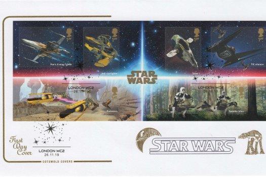 Cotswold Star Wars Minisheet FDC