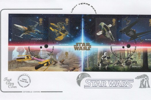 Cotswold Star Wars Minisheet Official FDC
