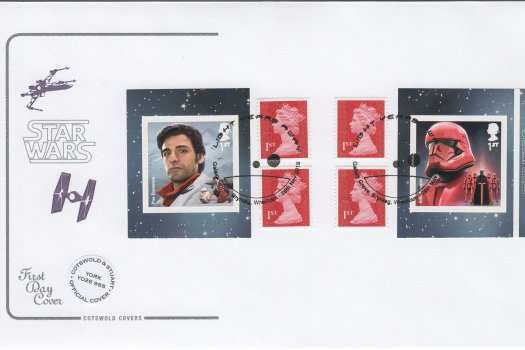 Cotswold Star Wars Retail Booklet Official FDC