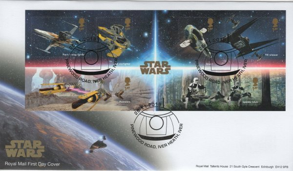 RM Star Wars Minisheet FDC