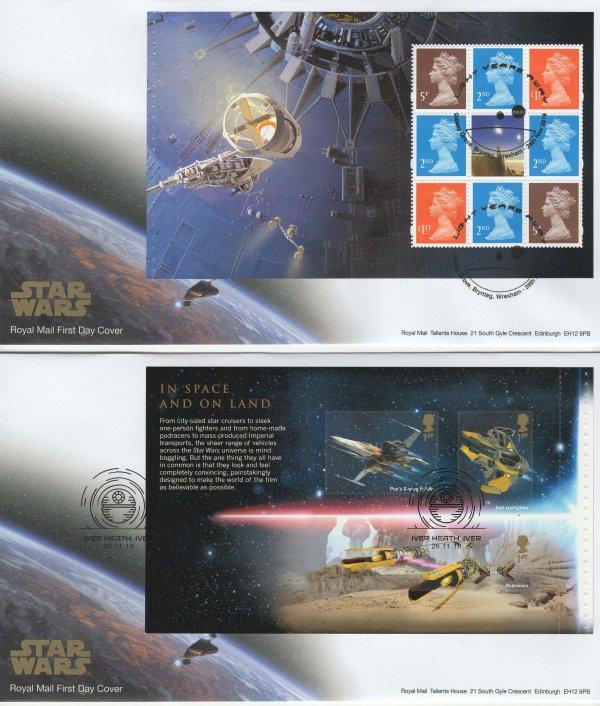 Royal Mail Star Wars PSB FDC image 1