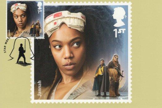 Star Wars Stamp Cards Front