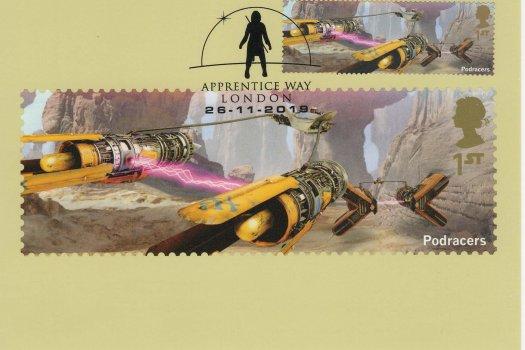 Star Wars Stamp Cards Back