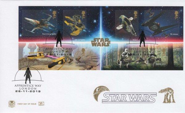 Stuart Star Wars Minisheet FDC