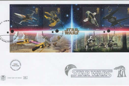 Stuart-Star Wars Minisheet Official FDC