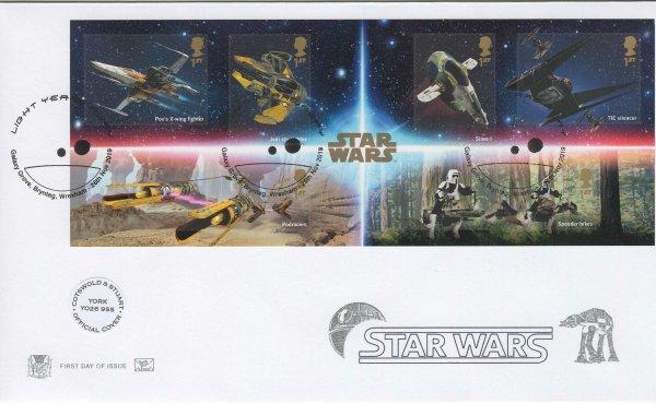 Stuart-Star Wars Minisheet Official FDC