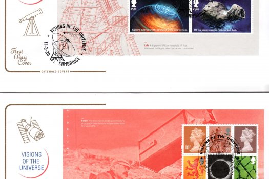 Cotswold Visions of the Universe PSB FDC image 1