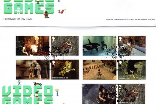 Royal Mail Video Games FDC