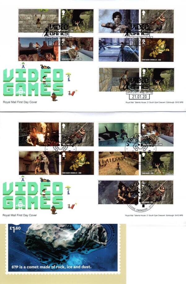 Royal Mail Video Games Generic Sheet FDC