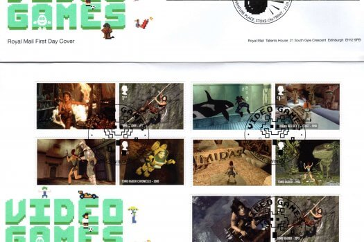 Royal Mail Video Games Minisheet FDC
