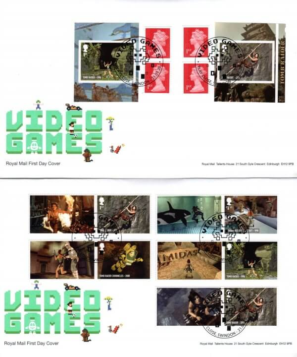 Royal Mail Video Games Retail Booklet FDC