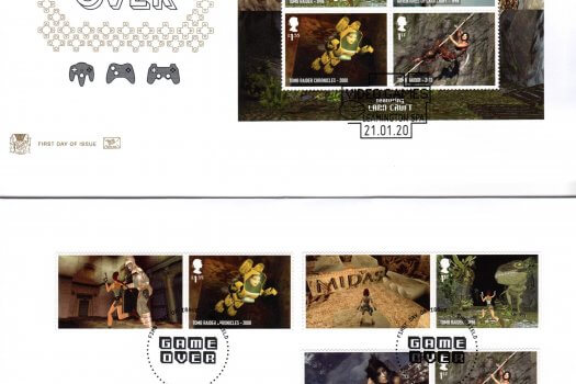 Stuart Video Games Minisheet FDC
