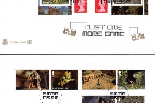 Stuart Video Games Retail booklet FDC