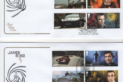 Cotswold James Bond Generic Sheet FDC image 1