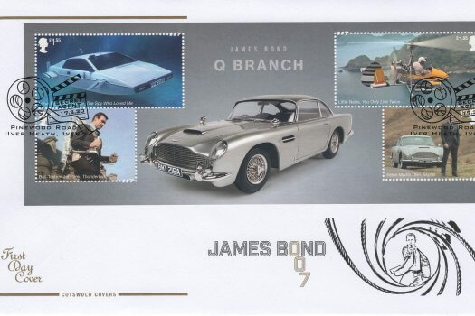 Cotswold James Bond Minisheet FDC