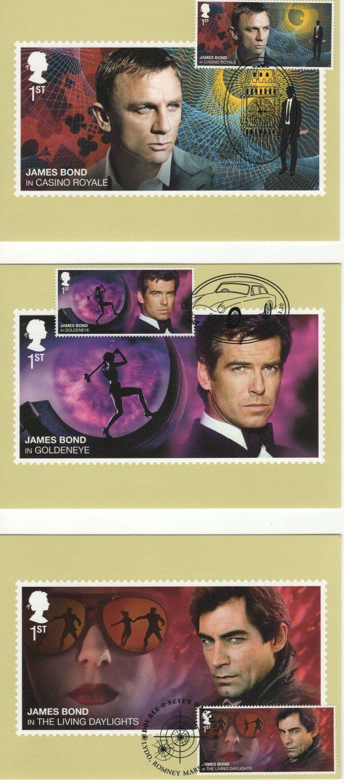 James Bond Stamp Cards image 1