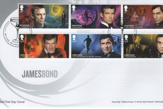 Royal Mail James Bond FDC
