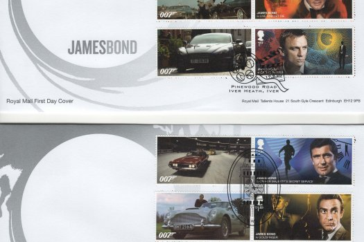 Royal Mail James Bond Generic Sheet FDC image 1