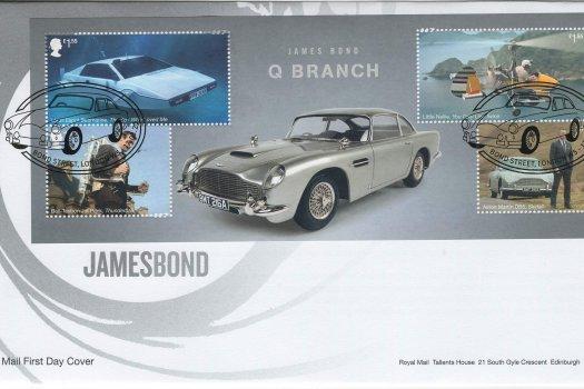 Royal Mail James Bond Minisheet FDC