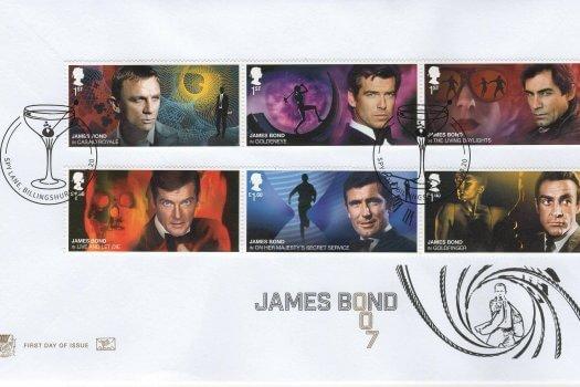 Stuart James Bond FDC