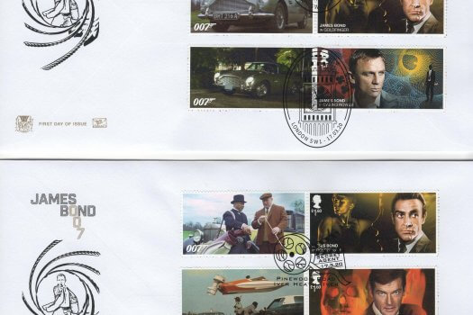 Stuart James Bond Generic Sheet FDC image 1