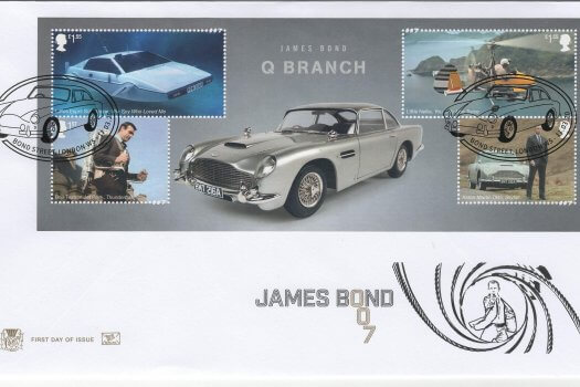 Stuart James Bond Minisheet FDC