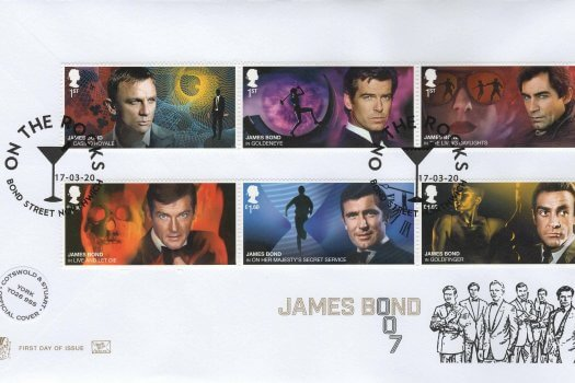 Stuart James Bond Official FDC