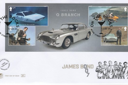 Stuart James Bond Official Minisheet FDC