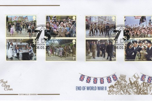Cotswold End of WW2 FDC