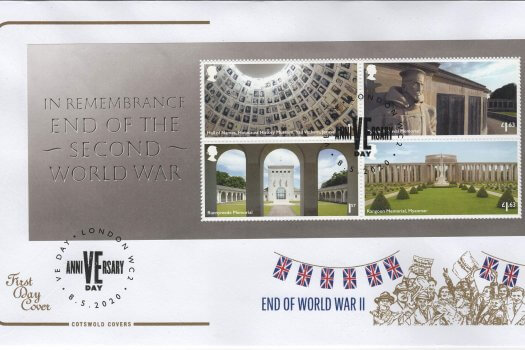 Cotswold End of WW2 MS FDC